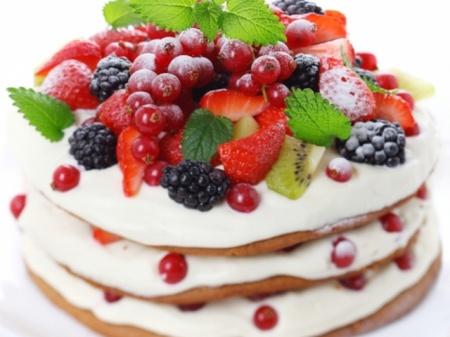 Украшаем торт фруктами. Фото и рецепты красиво украшенных фруктовых тортов