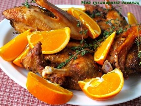 Утка запеченная в духовке с апельсинами. Как приготовить изумительно вкусную утку, запеченную в духовке с апельсинами.