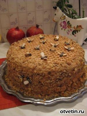 как украсить торт медовик в домашних условиях фото